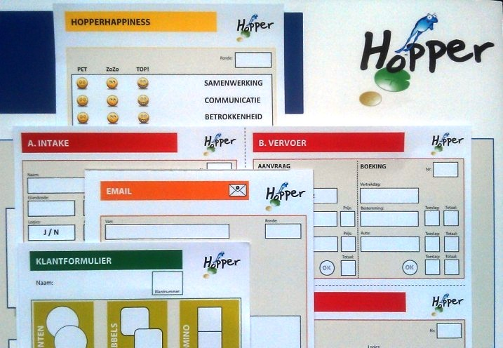 Materiaal bij de Hopper Serious Game